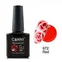 Акварельный гель-лак красный Canni  №672 7.3 мл