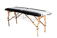 Стол массажный деревянный 2х секционный, кушетка, для наращивания ресниц, RELAX.косметологии, процедур, тату, фото 1