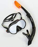 Набор для плавания (маска и трубка) ZELART М105-SN132-SIL черный