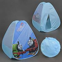 Палатка Паровозик Томас для детей, в сумке. Детская игровая палатка для дома и улицы