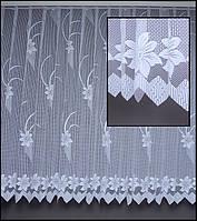 Гардины сетка-жаккард с цветами Т520