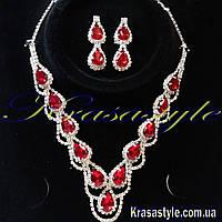 Набор украшений с рубинами (серебро)