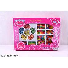 Бісерний набір (в коробці) резиночки+бусини з дерева (32*4*23) 5+