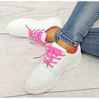 Модные женские кроссовки RS16 White Neon