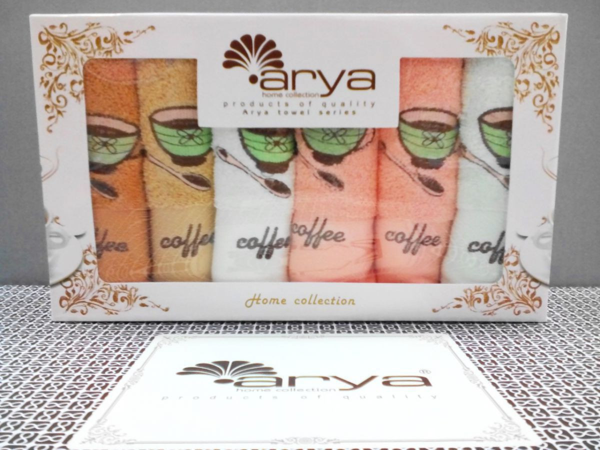 Arya набор полотенец 30*50 см., 6 ш
