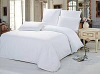 Полуторный комплект постельного белья белый, бязь