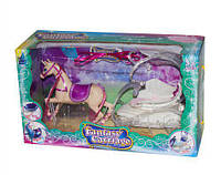Карета с лошадкой (розовое седло) SM3005