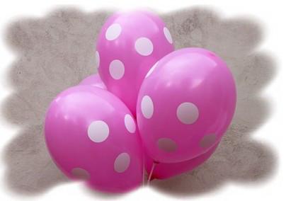 """Воздушные шары """"Полька розовая""""  12""""(30 см) пастель В упак: 100шт ТМ """"Gemar"""""""