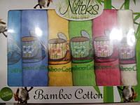 Набор бамбуковых  кухонных полотенец Nilteks- 6 шт.
