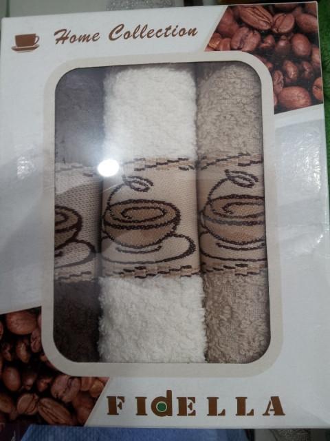 Набор махровых кухонных полотенец Fidella - 3 шт.