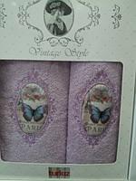 Подарочный набор полотенец (банное +лицевое)