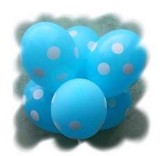 """Воздушные шары """"Полька голубая""""  12""""(30 см) пастель В упак: 100шт ТМ """"Gemar"""""""