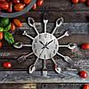 """Кухонные часы """"Столовые приборы"""" (32х32 см) [Металл], фото 3"""