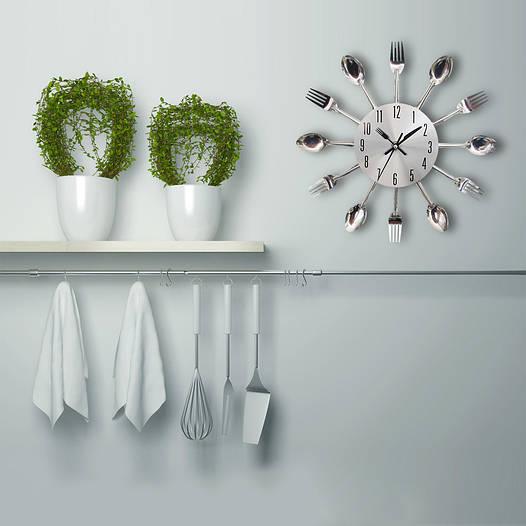 """Кухонные часы """"Столовые приборы"""" (32х32 см) [Металл]"""
