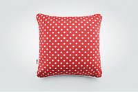 Декоративная подушка Красный Горошек 43х43 см