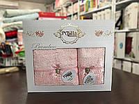 Набор бамбуковых полотенец в коробке  Pupilla Clara (розовые), фото 1