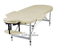 Алюминиевый массажный стол TES (Двухсекционный )
