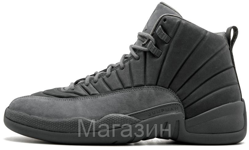 ad9f4e98c879 Баскетбольные Кроссовки Nike Air Jordan 12 Retro Grey (Найк Аир Джордан 12  Ретро) Серые — в Категории