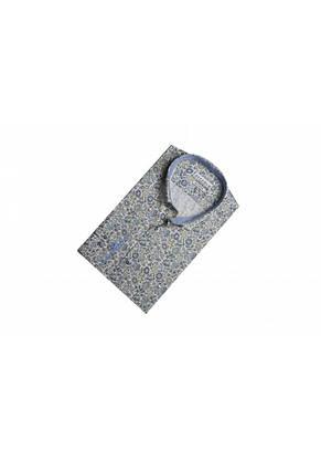 Белая рубашка с цветочным узором KS 1824-1 разм. 3XL, фото 2