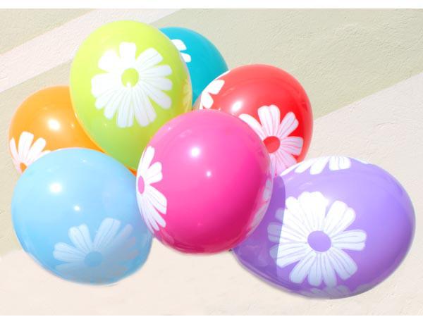 """Воздушные шары """"Ромашки""""12""""(30 см) пастель ассорти  В упак:100шт.  ТМ """"Gemar"""""""