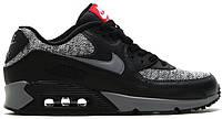 Женские кроссовки Nike Air Max 90 Essential Найк Аир Макс 90 черные с серым