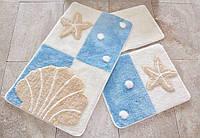 Набор ковриков в ванную комнату (3 шт.) - цвета в ассортименте