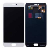 Дисплей Meizu Pro 6 белый (LCD экран, тачскрин, стекло в сборе)
