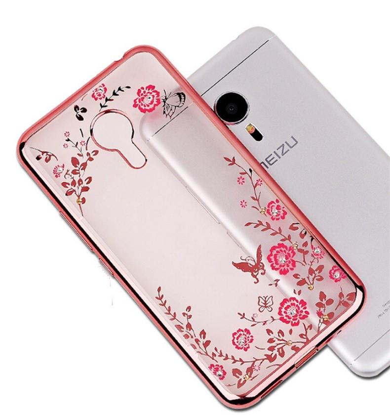 Чехол Luxury для Meizu M5 Бампер Rose Gold