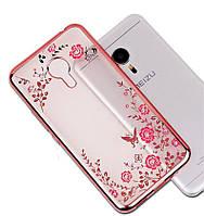 Чехол Luxury для Meizu M5 Бампер Rose Gold, фото 1
