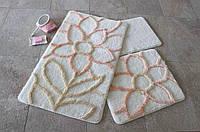 Набор ковриков в ванную комнату - цвета в ассортименте (3 шт.)
