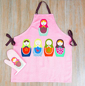 Набор для кухни Barine - Nesting Doll фартук с рукавичкой