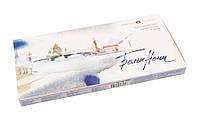 Набор акварельных красок ЗХК Невская палитра Белые Ночи 24 цвета кювета картонная коробка