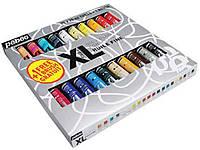 Набор масляных красок тонкотертых XL, 20цв. по 20мл+кисть, картон