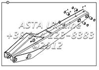 Стрела B4-5-2-OP2 для экскаватора-погрузчика Hidromek 102B, фото 1