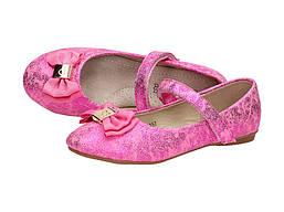 Туфли с бантиком для девочек 157 Rozowe