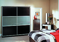 Шкаф купе арт. 0385 темный венге, ширина 2м