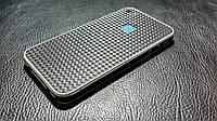 Декоративная защитная пленка для Iphone 4 карбон кубик черный, фото 1
