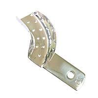 Ложка оттискная стоматологическая перфорированная для коронок и мостовидных протезов, левая № 2. Длина 50 мм
