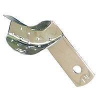 Ложка оттискная стоматологическая перфорированная для коронок и мостовидных протезов, правая № 1. Длина 46 мм