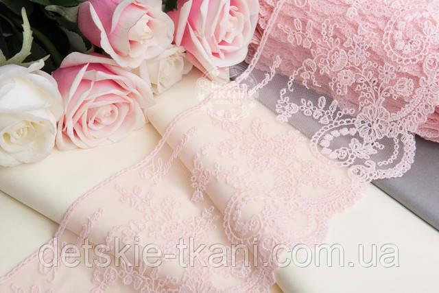 кружево блюмарин розовый цвет