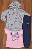 Модный костюм-тройка для девочки S&D р.98, 122