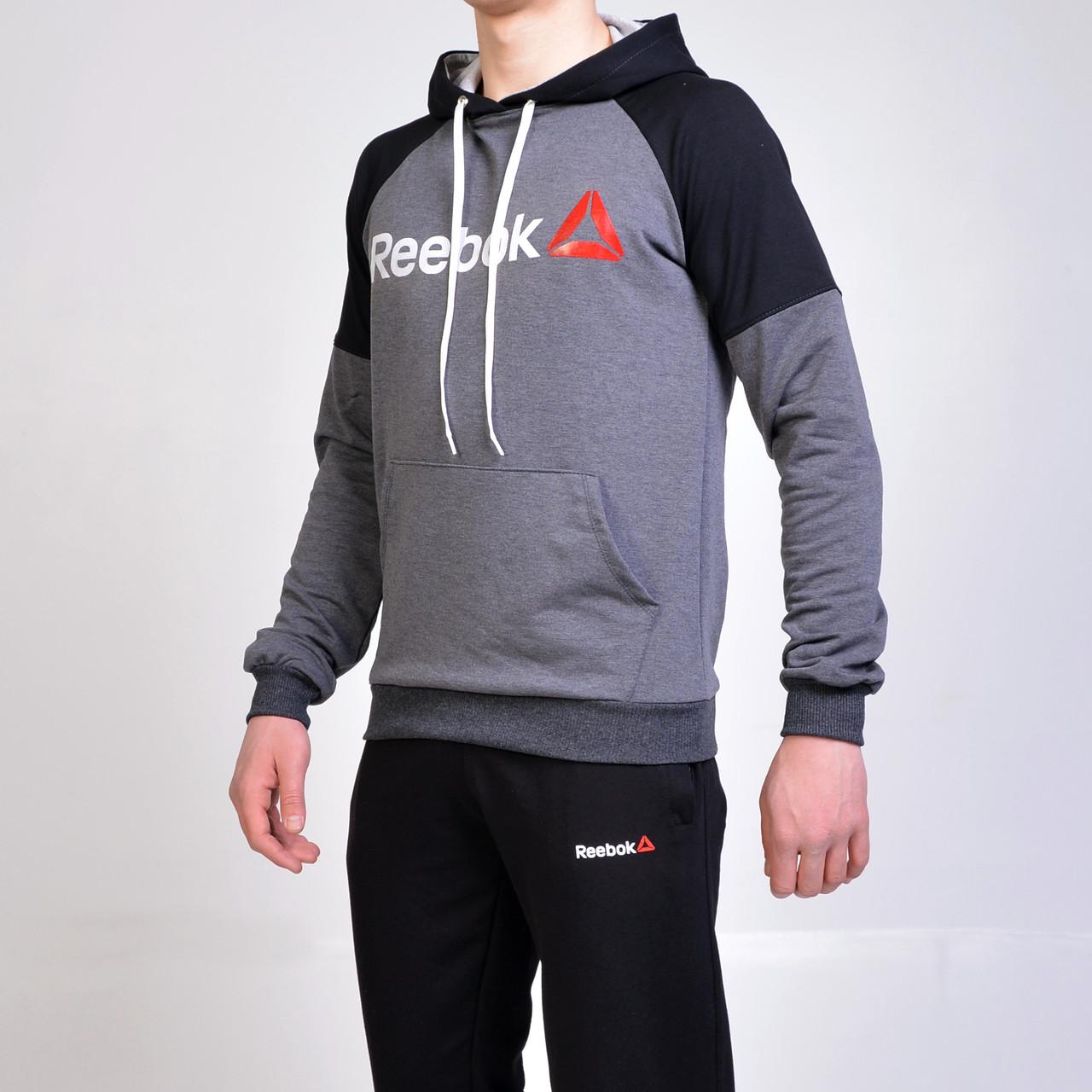 4f6936cc Мужской спортивный костюм Reebok (Рибок) / кофта с капюшоном и брюки на  манжете -