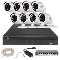 Набор камер наблюдения Green Vision GV-IP-K-L23/08 1080P