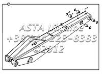 Стрела B4-5-2-OP1 для экскаватора-погрузчика Hidromek 102B