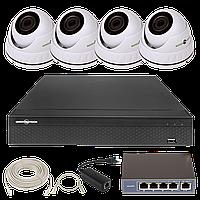 Комплект видеонаблюдения Green Vision GV-IP-K-L25/04 1080P
