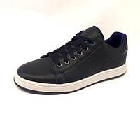 Подростковые туфли-слипоны кожаные черные 0182УКМ