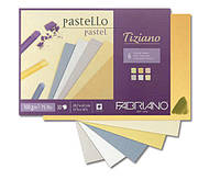 Cклейка для пастели, теплые цвета, A4 (21х29,7см), 160г/м.кв., 30л., Tiziano, Fabriano
