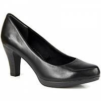 Туфли-лодочки кожаные черные Марко Тоцци 22415-27