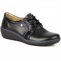 Черные ботинки женские кожаные удобные Helios 318