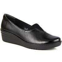 Черные ботинки женские кожаные удобные Galant